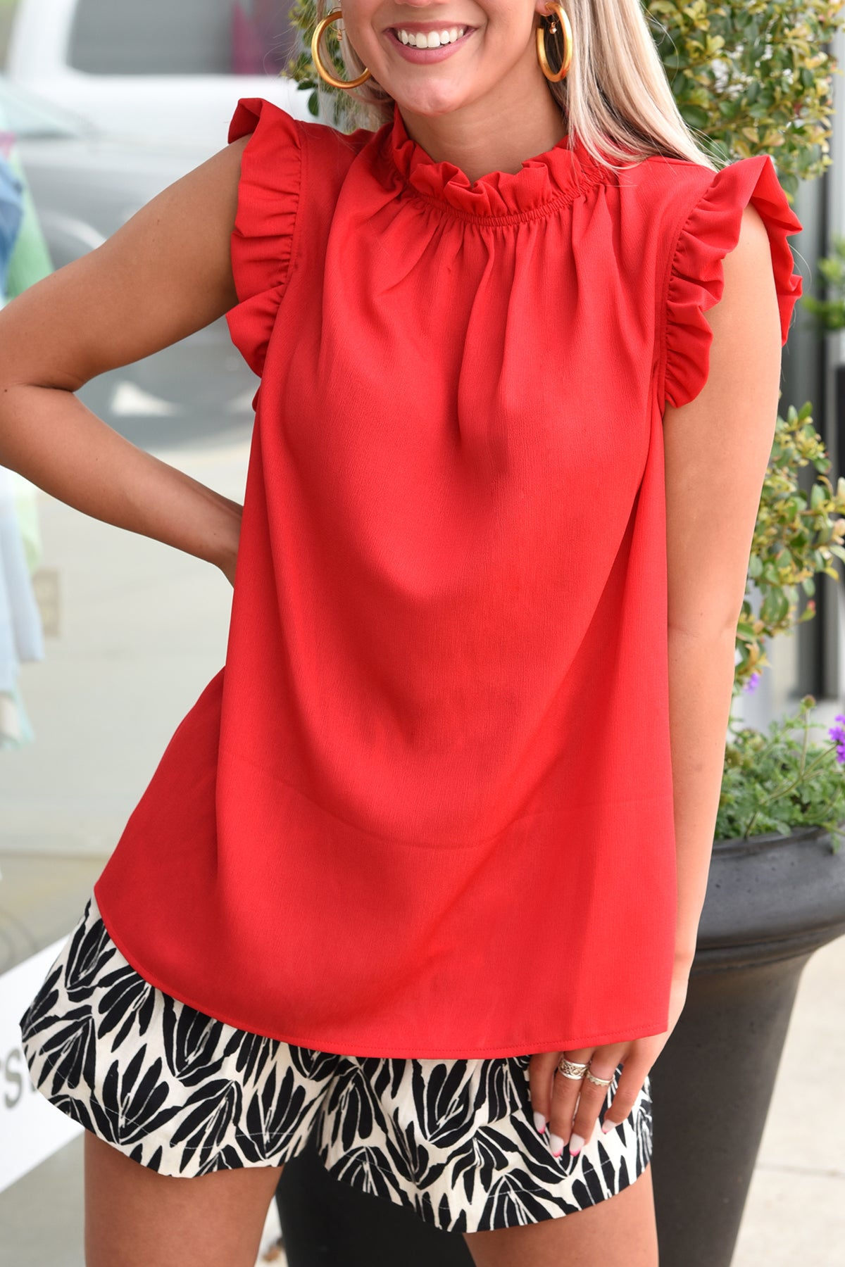 TRIED AND TRUE TOP -RED