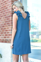 TELL ME ABOUT IT DRESS -TEAL