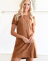 PURE SIMPLICITY DRESS -CAMEL