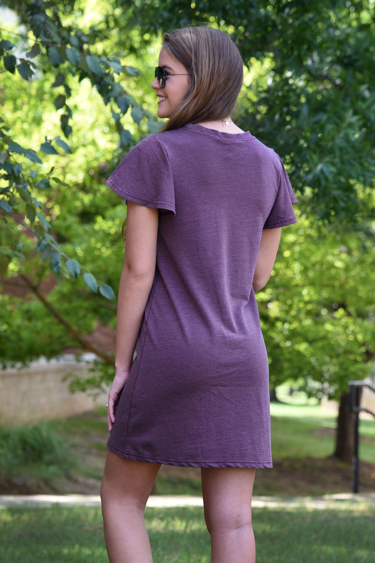 Z SUPPLY FARREN TEE DRESS-MERLOT