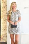 FEEL THE RUSH DRESS -SNAKE - Dear Stella Boutique