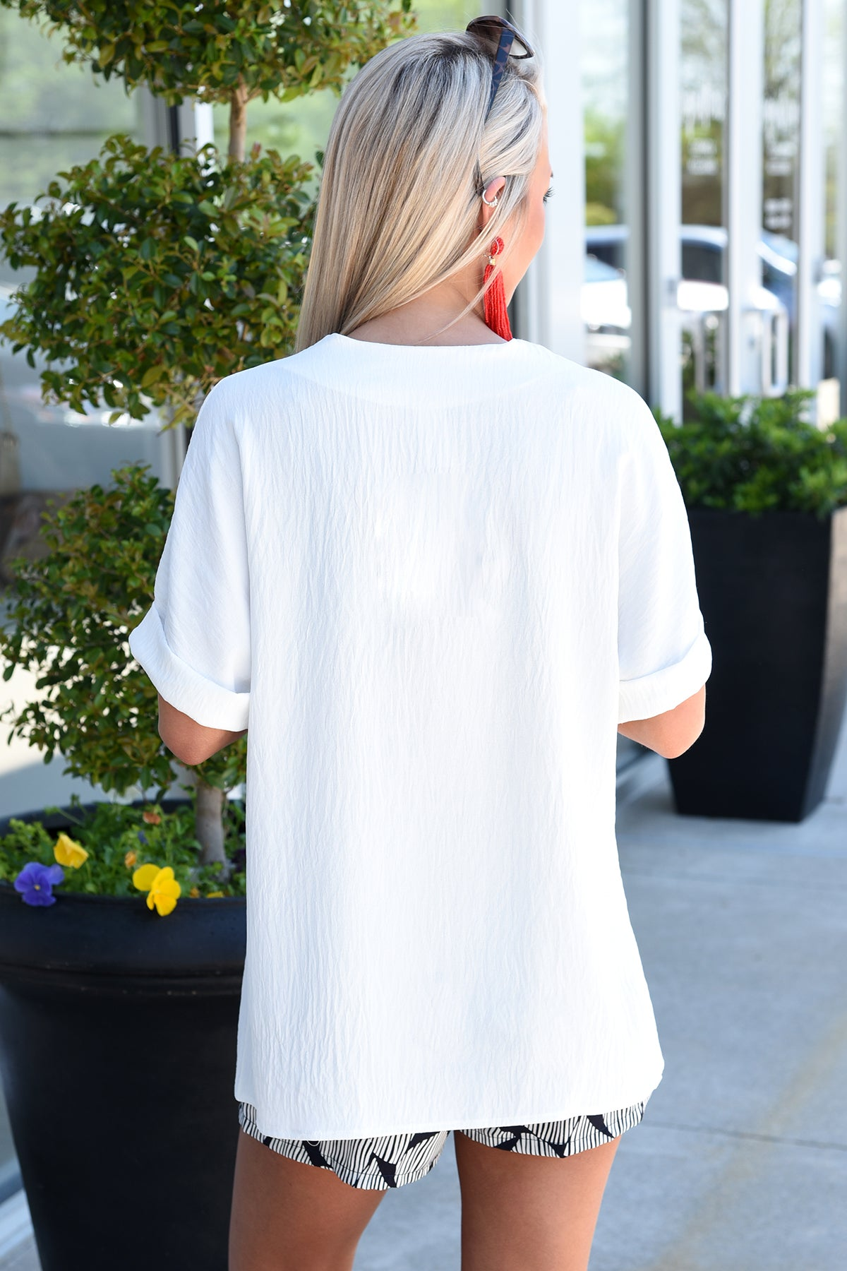 KEEP IT SIMPLE TOP -WHITE