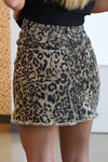 BUDDY LOVE SHARON DENIM SKIRT -LEOPARD