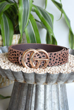 BROWN LEOPARD BELT
