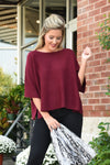 A LITTLE BIT OF LOVE SWEATER - BURGUNDY - Dear Stella Boutique