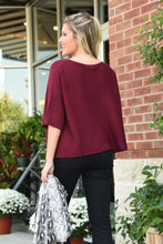 A LITTLE BIT OF LOVE SWEATER - BURGUNDY