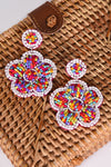 BEADED FLOWER EARRINGS - Dear Stella Boutique