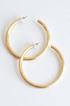 SATIN GOLD HOOP - Dear Stella Boutique