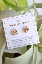 JAX KELLY GOLD DRUZY STUDS