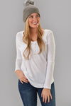Z SUPPLY LONG SLEEVE POCKET TEE -WHITE - Dear Stella Boutique