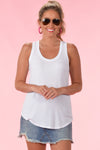 Z SUPPLY THE SLEEK JERSEY TANK - WHITE - Dear Stella Boutique