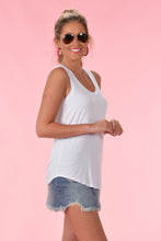 Z SUPPLY THE SLEEK JERSEY TANK - WHITE