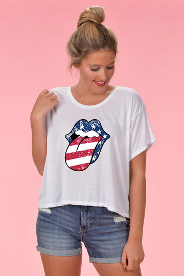 PATRIOTIC GRAPHIC TEE