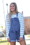 Z SUPPLY KNIT DENIM SHORTALLS - Dear Stella Boutique