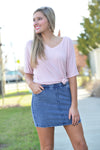Z SUPPLY KNIT SKIRT -DENIM - Dear Stella Boutique