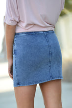 Z SUPPLY KNIT SKIRT -DENIM