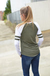Z SUPPLY VARSITY TEE -OLIVE - Dear Stella Boutique