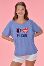 PATRIOTIC SHADES GRAPHIC TEE - BLUE