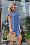 RUNNING AWAY CHAMBRAY DRESS - Dear Stella Boutique