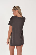 Z SUPPLY THE ORGANIC SIDESLIT TUNIC - GRAPHITE