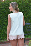 PURE SWEETNESS TOP- WHITE - Dear Stella Boutique