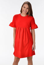VIBRANT VIBES DRESS - RED