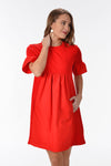 VIBRANT VIBES DRESS - RED - Dear Stella Boutique