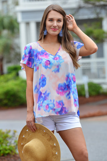 BUDDY LOVE AVRIL TOP- PANSY - Dear Stella Boutique