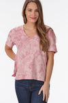 Z SUPPLY THE CLOUD TIE DYE TEE -PINK - Dear Stella Boutique