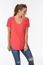 Z SUPPLY THE MICRO MODAL POCKET TEE - TOMATO
