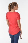 Z SUPPLY THE MICRO MODAL POCKET TEE - TOMATO - Dear Stella Boutique