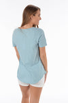 Z SUPPLY COTTON SLUB POCKET TEE -SANDWASHED BLUE - Dear Stella Boutique
