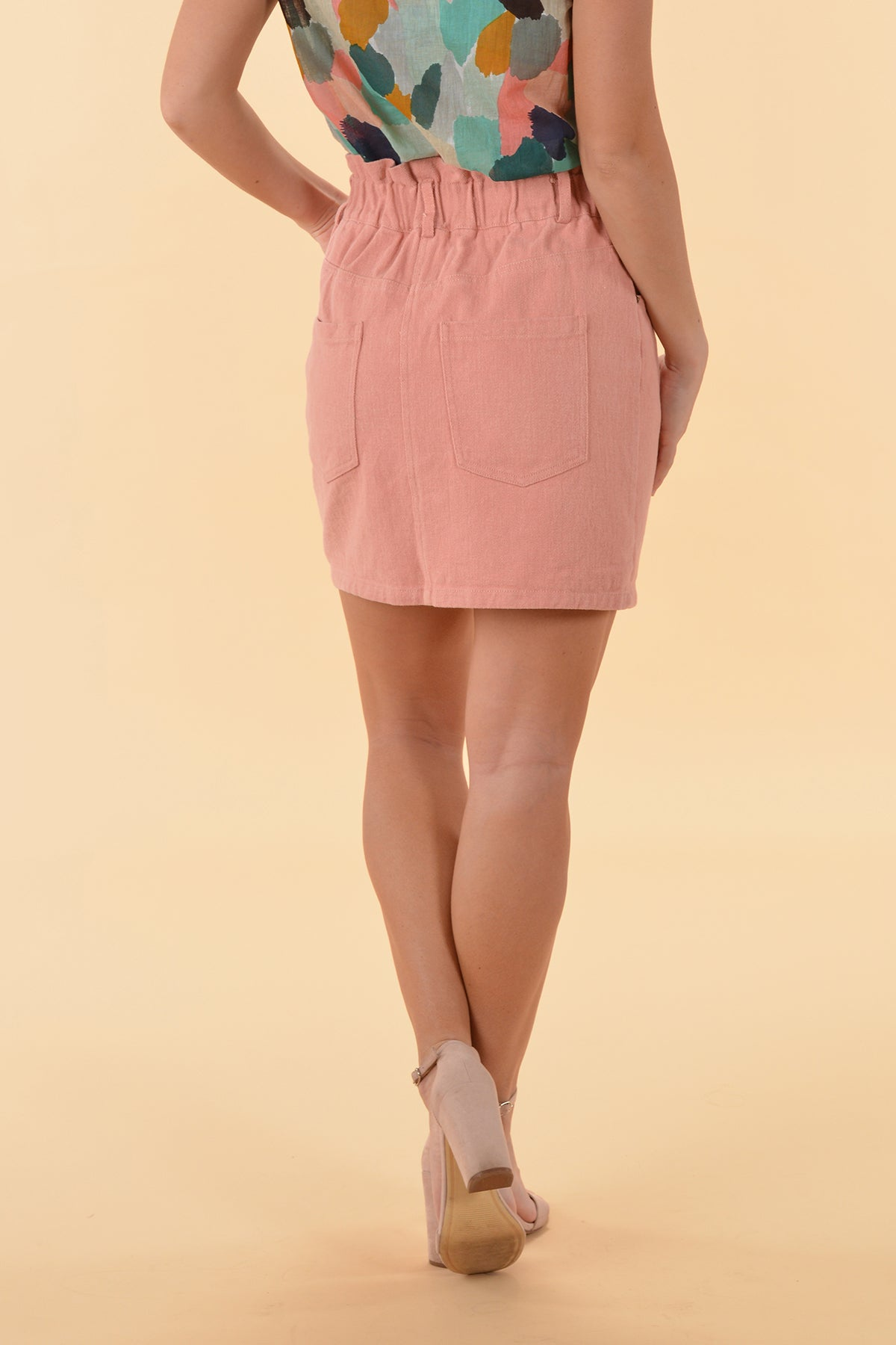 YOU'RE WITH ME SKIRT - DUSTY PINK