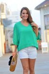 ALL OF ME TOP- GREEN - Dear Stella Boutique