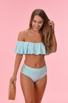 SWEET SUNRISE TOP - TURQUOISE - Dear Stella Boutique