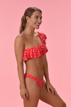 SOAK UP THE SUN BIKINI TOP - RED POLKA DOT