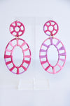 PINK WRAPHIA EARRINGS - Dear Stella Boutique