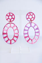 PINK WRAPHIA EARRINGS