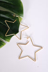 GOLD STAR HOOPS - Dear Stella Boutique