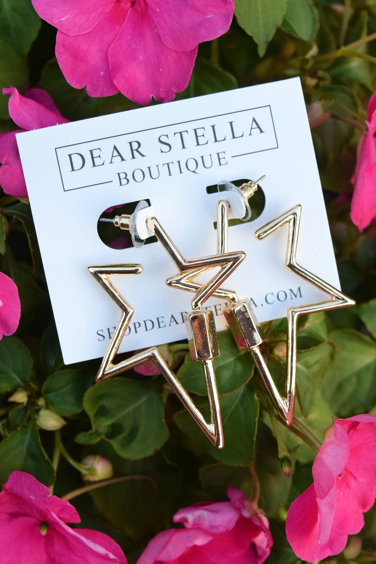STAR LOCK EARRINGS