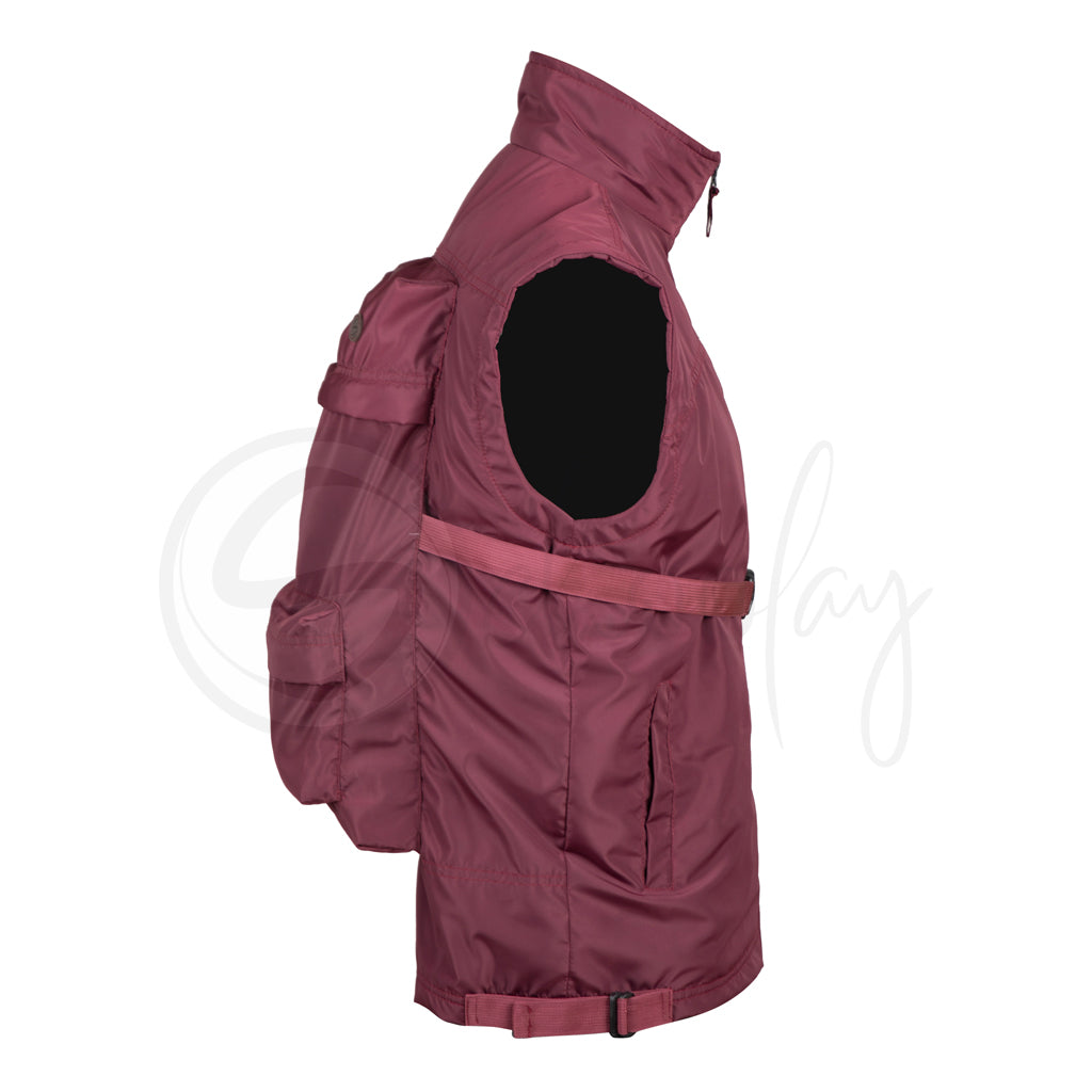 Maroon JackPack (Jacket + Backpack) Core Functionality