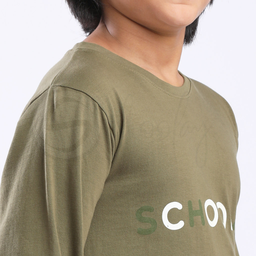 Glow In The Dark Zero Stain 100% Cotton Army Green Thumb T-shirt