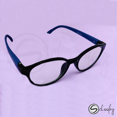 2-12 Years Online Class Eye Protection -  Cobalt Blue Oval Specs