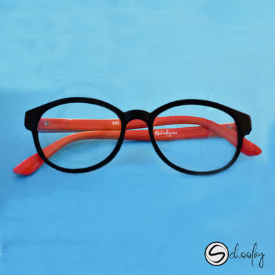 2-12 Years Online Class Eye Protection - Amber Orange Oval Specs
