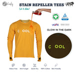 Glow In The Dark Zero Stain 100% Cotton Celebration Yellow Thumb T-shirt
