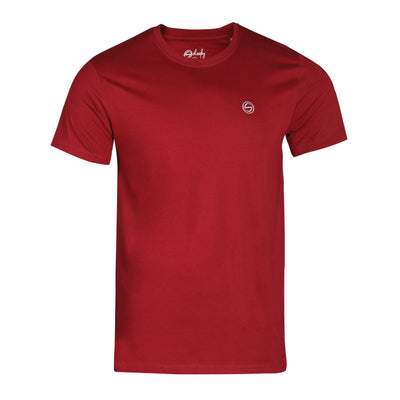 Solid Maroon Crew Neck Zero Stain 100% Premium Cotton T-shirt
