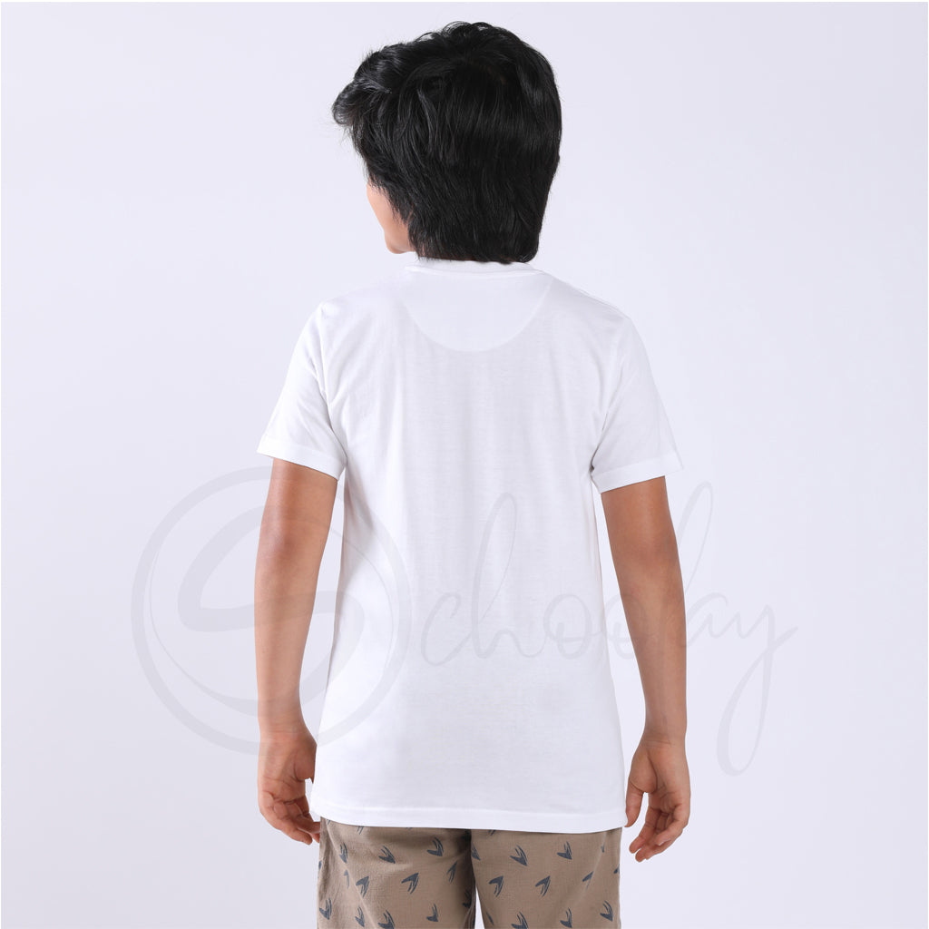 Stain Repeller Solid White Tee