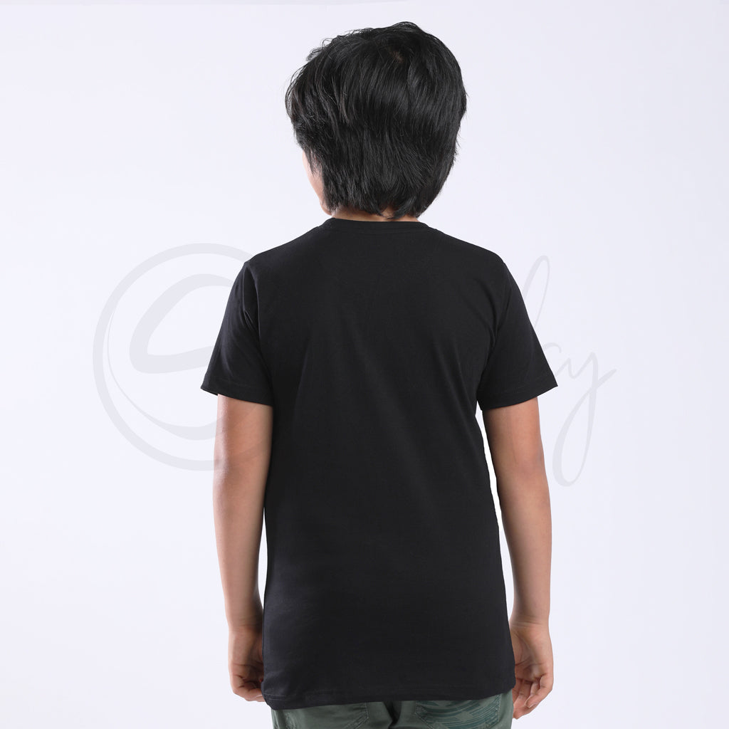 Stain Repeller Solid Black Tee