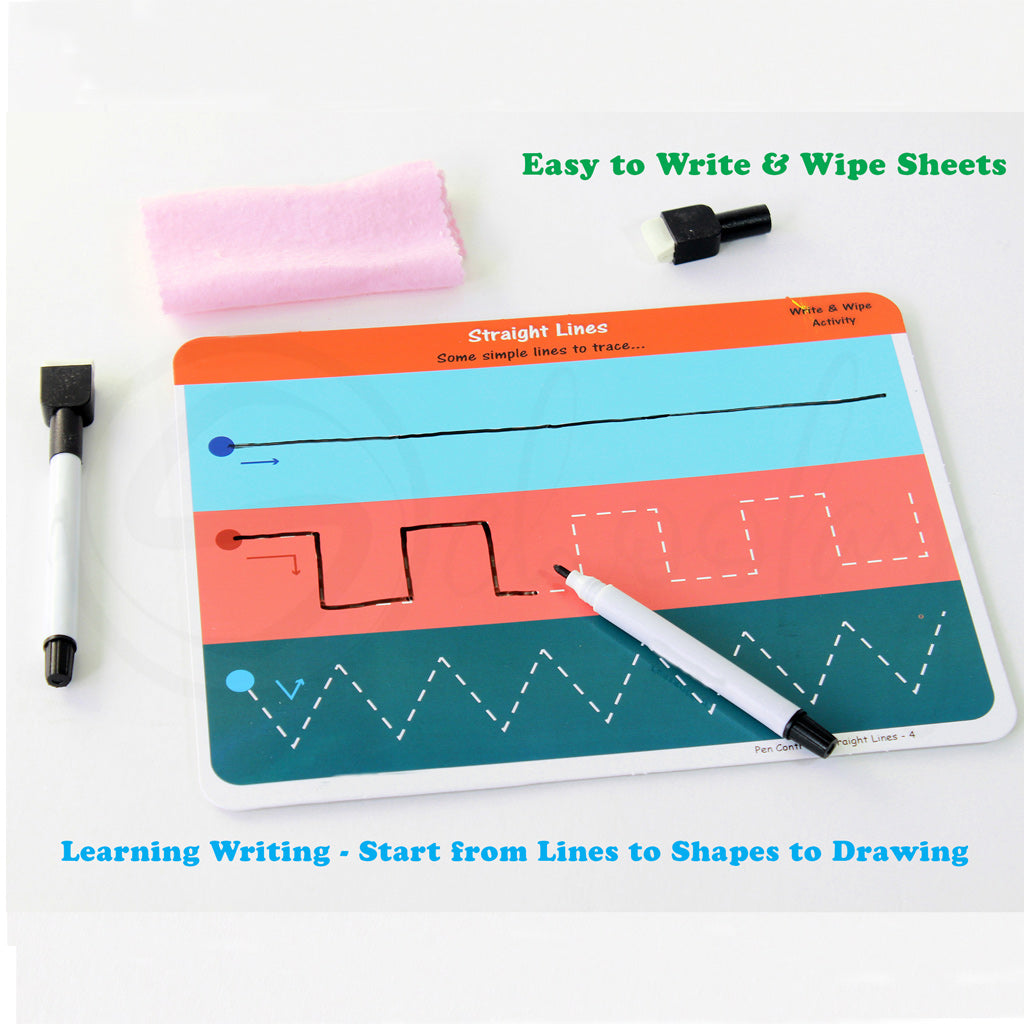 Learn it - Pen Control - Write & Wipe activities for kids (3 - 6 Years)