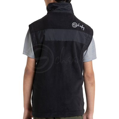 Polar English Fleece Bomber Vest - Black